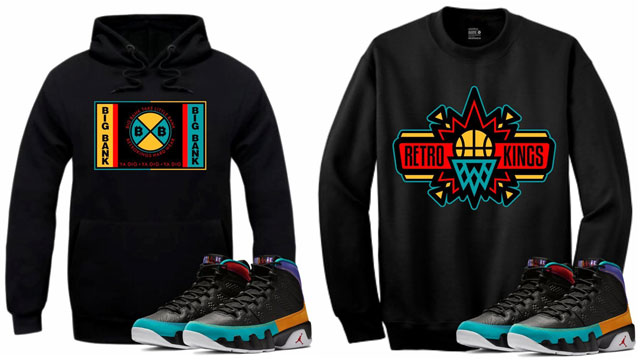 "c71707b6304d75 Retro Kings Hoodies and Crew Sweatshirts to Match the Air Jordan 9 ""Dream  It Do It"""