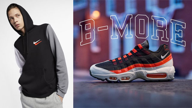 "2877ffa61 Nike City Brights Clothing Collection to Match the Nike Air Max 95  ""Baltimore Away"""