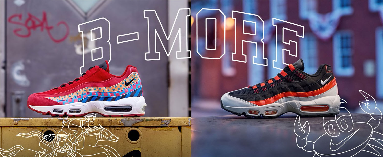 Nike Baltimore Air Max 95 Home and Away Shoes and Shirt ... 83d95450f