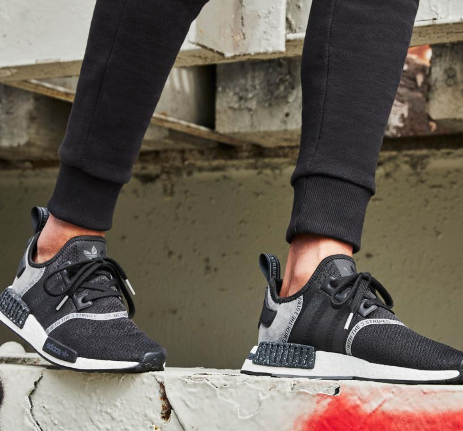 adidas-nmd-taped-boost-printed-series-black-shoes