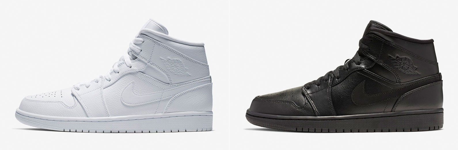 great fit ede0b 8ee5c Air Jordan 1 Mid Triple White and Triple Black Available Now ...