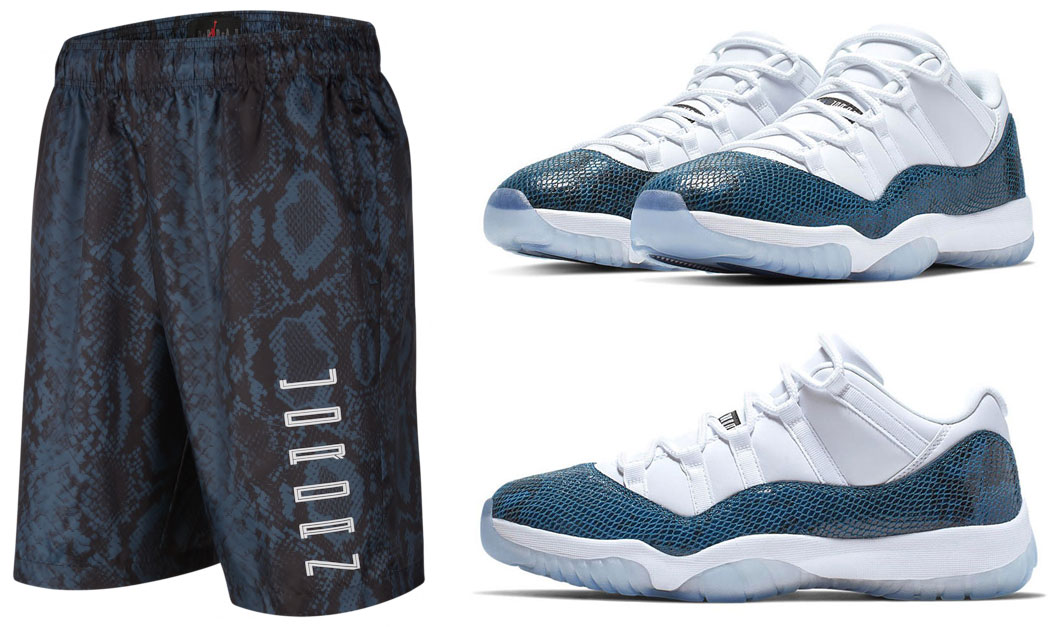 Air Jordan 11 Low Navy Snakeskin Shorts