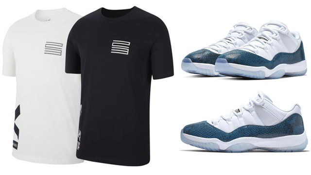 air-jordan-11-low-navy-snakeskin-tee-shirt