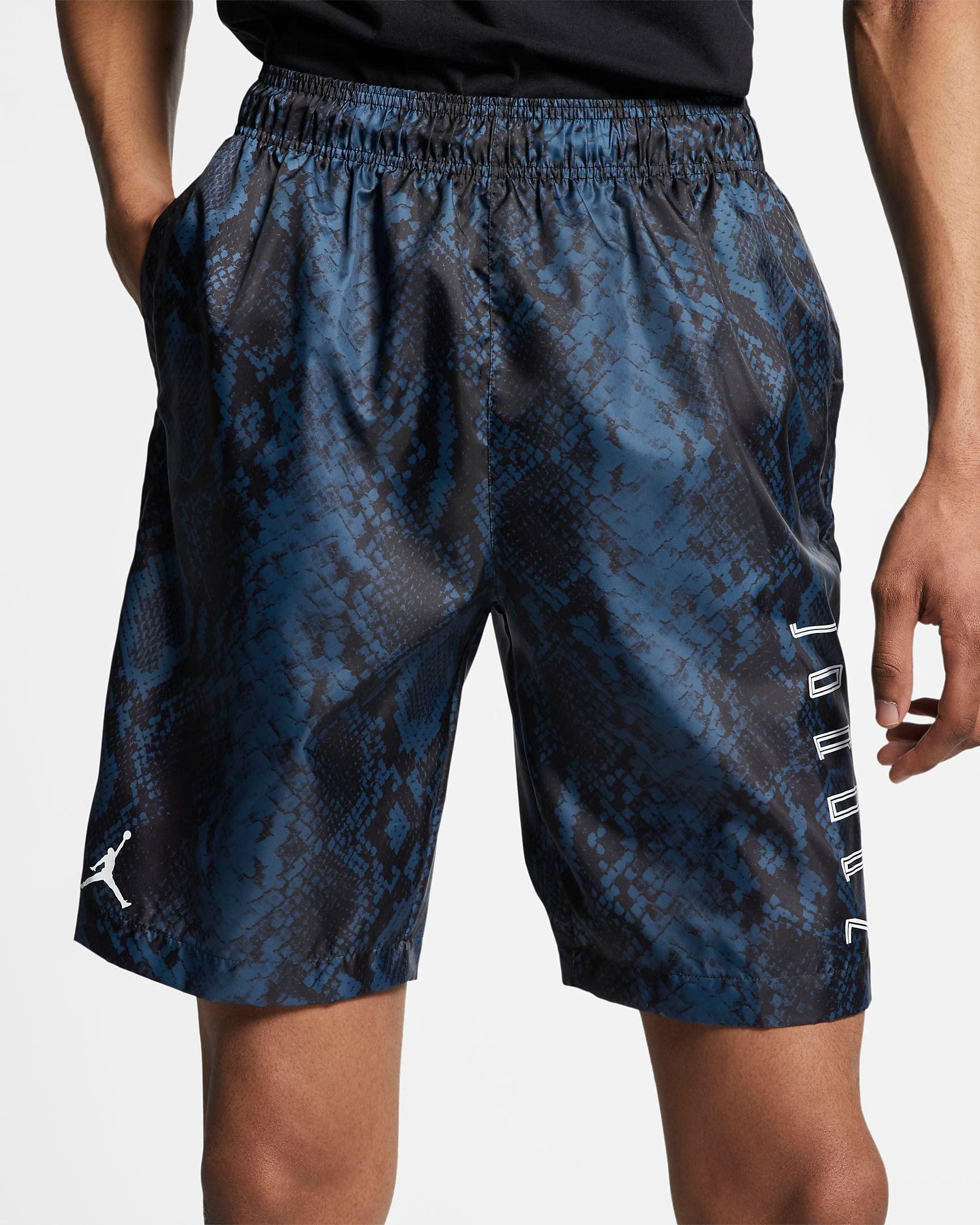 air-jordan-11-low-snakeskin-navy-blue-shorts-1