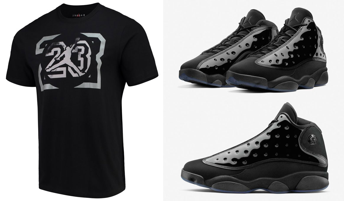 air-jordan-13-cap-and-gown-tee-shirt
