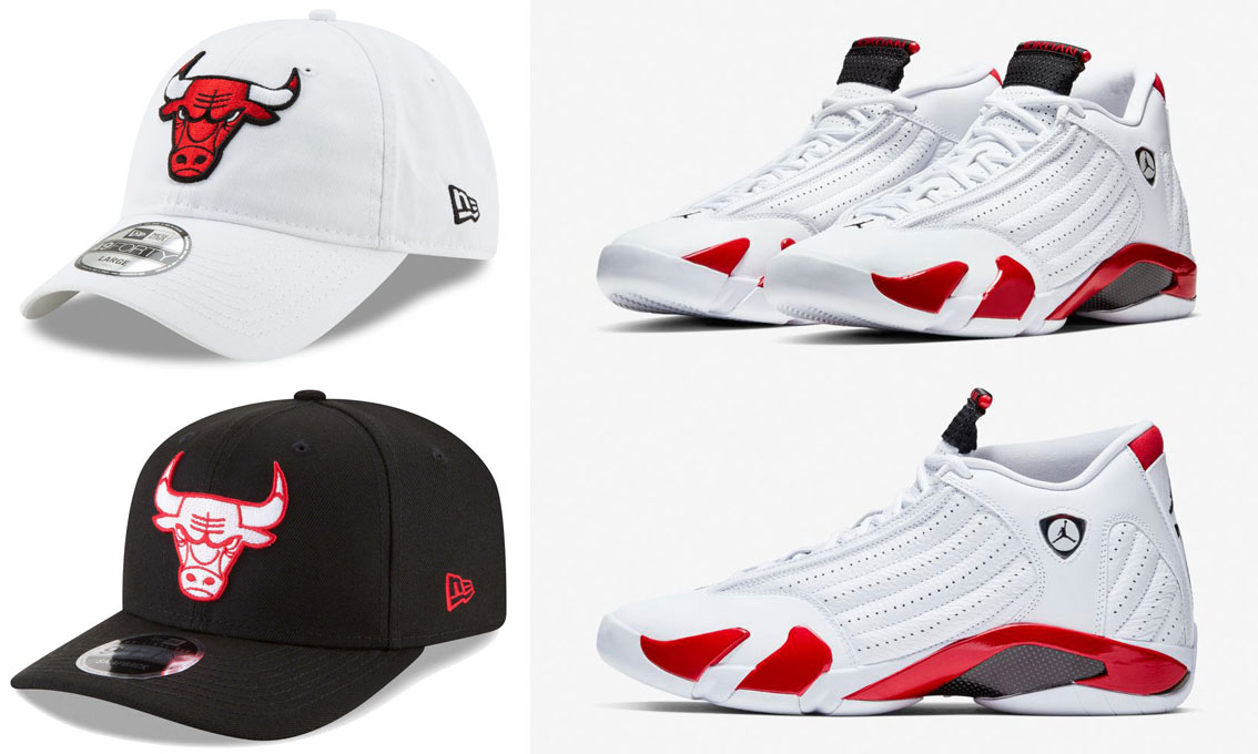 air-jordan-14-candy-cane-bulls-hats