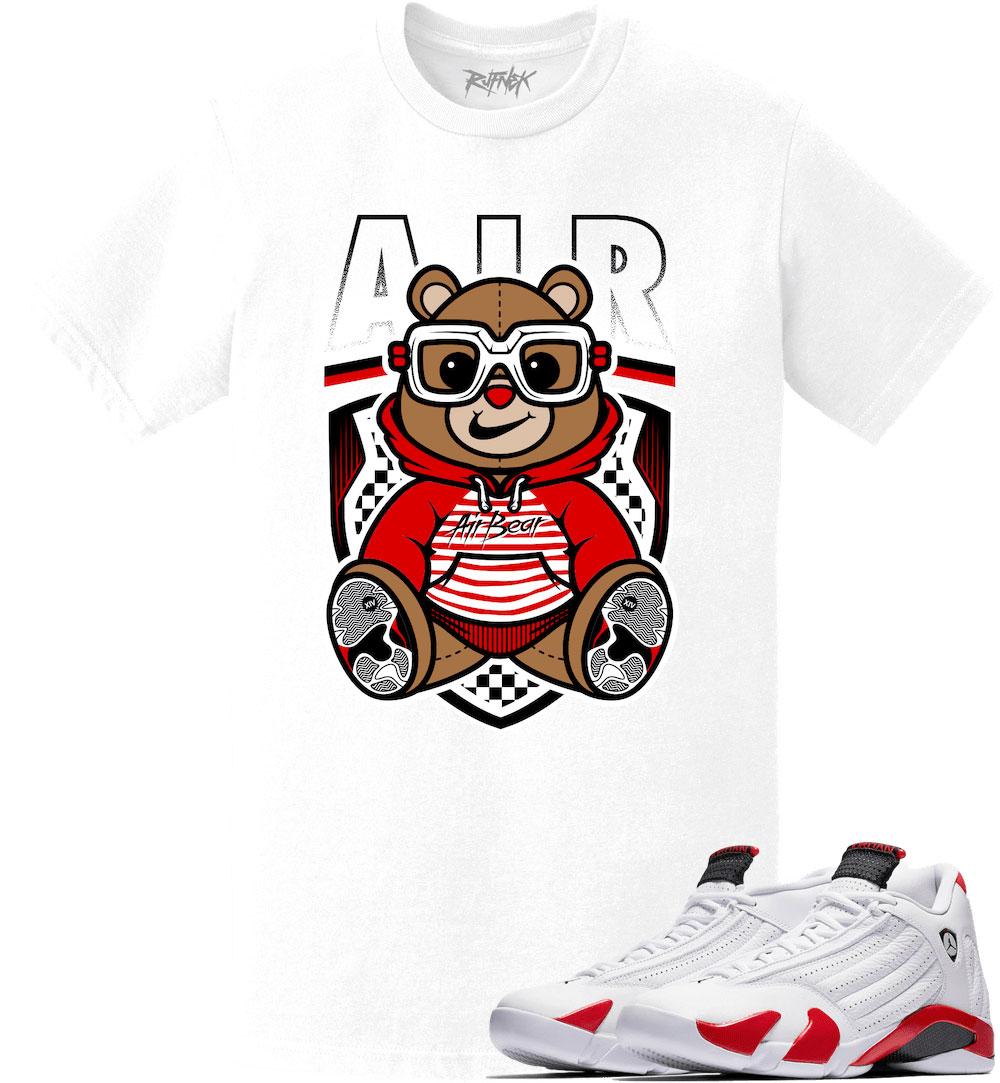 air-jordan-14-candy-cane-rip-hamilton-sneaker-tee-shirt-1