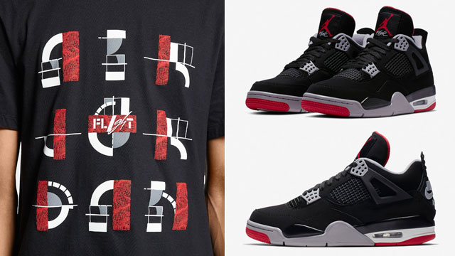 "7f6e2f48f217 Air Jordan 4 ""Bred"" 2019 x Jordan Legacy AJ 4 T-Shirt"
