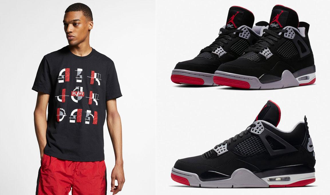 air-jordan-4-bred-2019-sneaker-tee-shirt