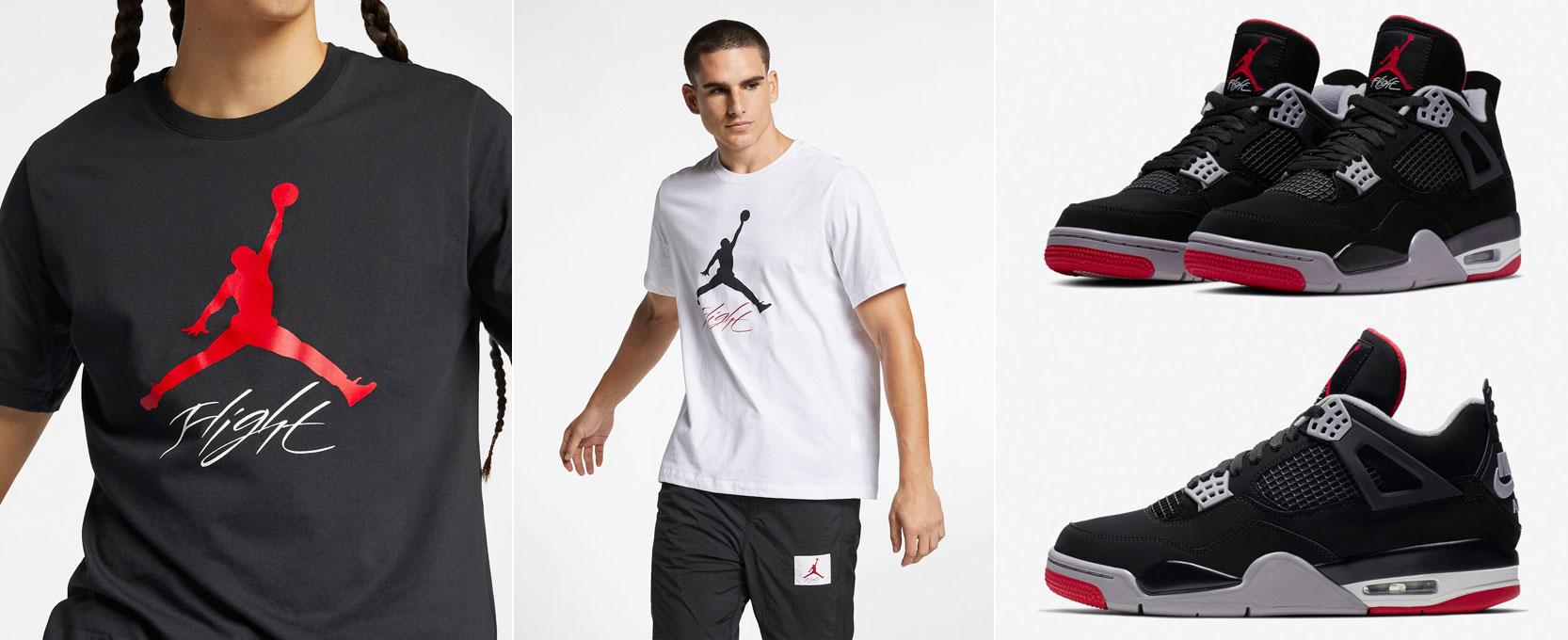 air-jordan-4-bred-2019-t-shirts
