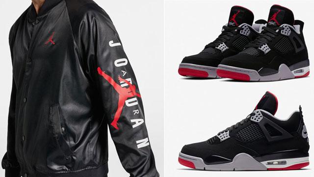 "c57bf261c44f Air Jordan 4 ""Bred"" x Jordan Jumpman Stadium Jacket"