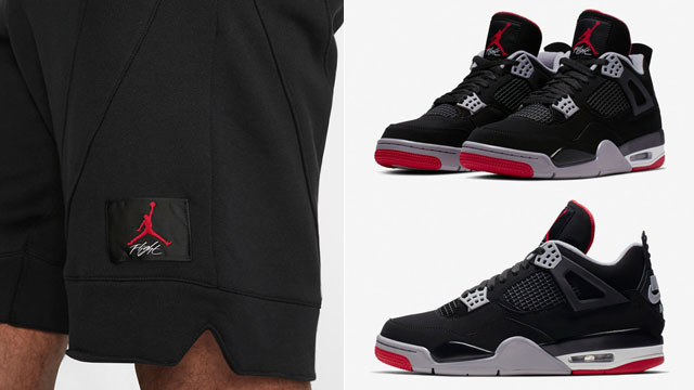 "9d8a21e0f33 Air Jordan 4 ""Bred"" x Jordan Flight Loop Shorts"