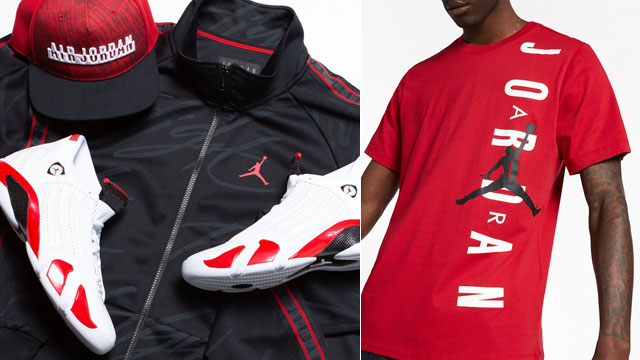 """99c7b23d71da Outfit Recap  The Best Clothing and Hats to Match the Air Jordan 14 """"Candy  Cane"""""""
