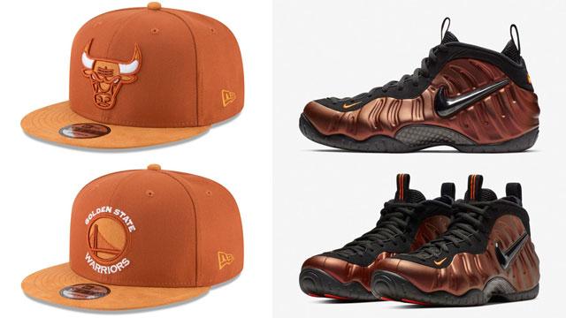 "4c243e2dd8a Nike Air Foamposite Pro ""Hyper Crimson"" x New Era NBA Rust Tonal Choice  9FIFTY Snapback Hats"