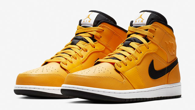 "085bacfaac3199 Air Jordan 1 Mid ""University Gold"" Now Available"