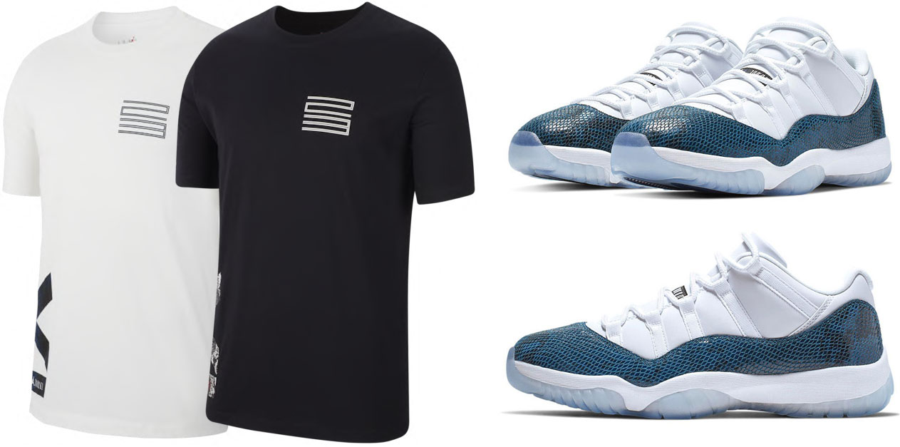 jordan-11-low-navy-snakeskin-shirt