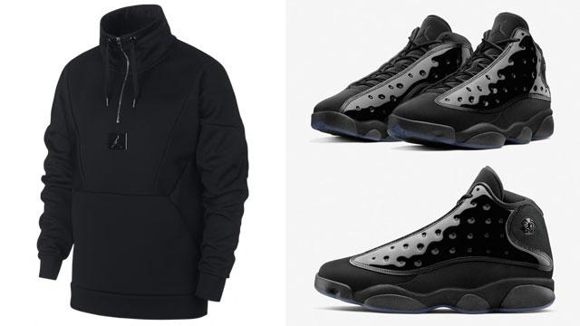 "1384c5ea1f2966 Air Jordan 13 ""Cap and Gown"" x Jordan 23 Engineered Flight Tech Lite  Quarter-Zip Sweatshirt"