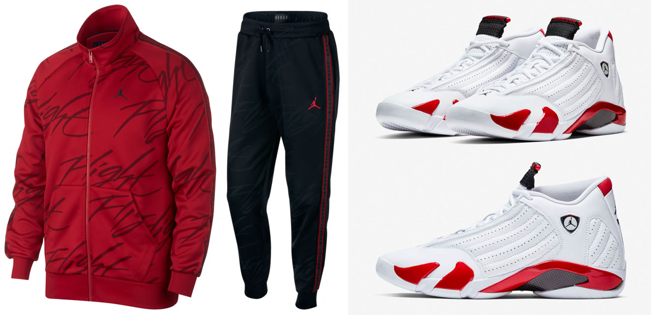 "buy popular 2a7d8 eeaa1 Air Jordan 14 ""Candy Cane"" x Jordan Jumpman Tricot Jacket and Pants"