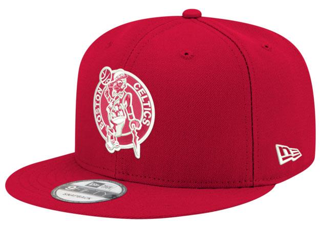 jordan-14-candy-cane-snapback-hat-celtics