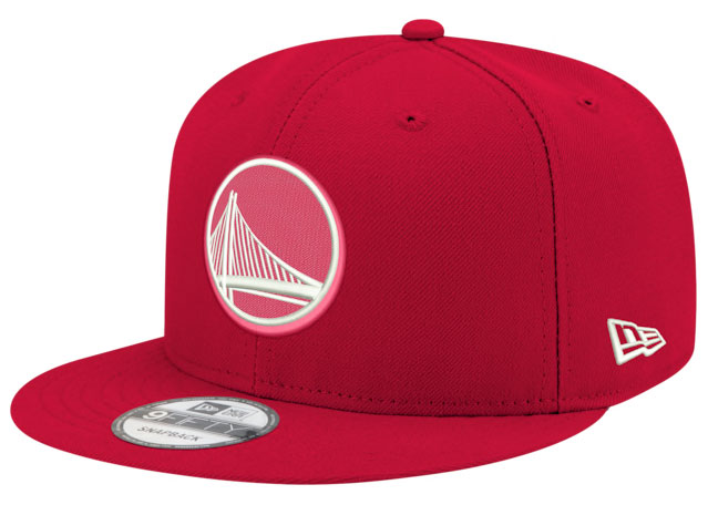 jordan-14-candy-cane-snapback-hat-warriors