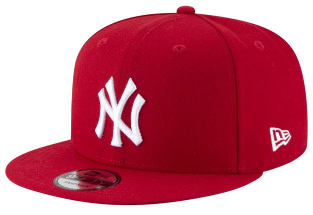 jordan-14-candy-cane-snapback-hat-yankees