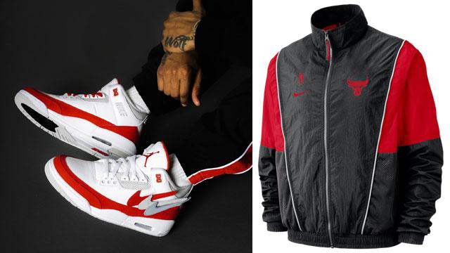 "9a2eb910a471 Air Jordan 3 Tinker ""Air Max 1"" x Nike Chicago Bulls NBA Throwback Track  Jacket and Pants"
