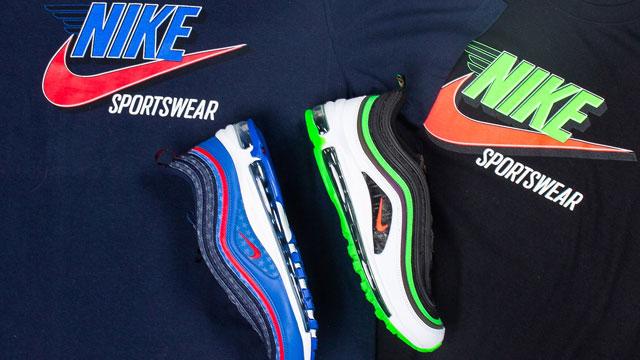 "0da2b19f3fd Nike Sportswear T-Shirts to Match the Nike Air Max 97 ""Dallas Home and Away""  Sneaker Pack"