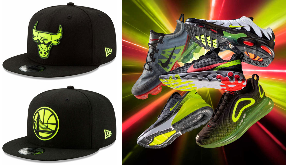 "3d8a05c6b1f New Era NBA Yellow Logo Neon Pop Snapback Hats to Match the Nike Sportswear  ""Midnight Glow"" Collection"
