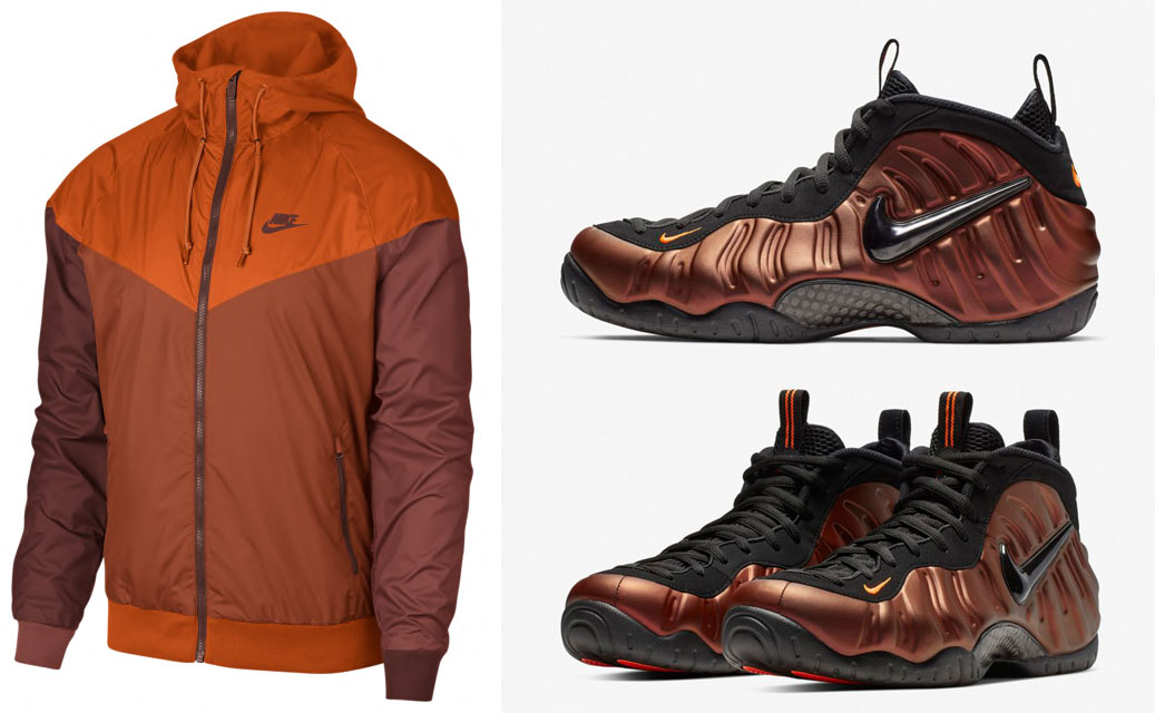 newest 0a905 bacaa Nike Foamposite Hyper Crimson Jacket Match | SneakerFits.com