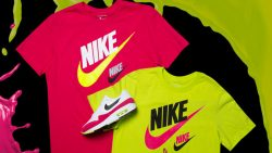 "f8a72b68b36e Nike Futura 2 ""Pink Limeaid"" T-Shirts to Match the Nike Sportswear ""Pink  Limeaid"" Sneaker Pack"