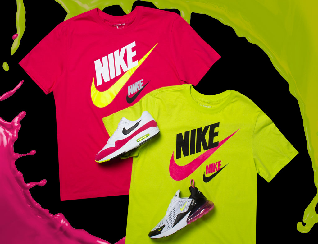 free shipping a5676 4b639 Nike Pink Limeaid Sneaker Tees to Match | SneakerFits.com