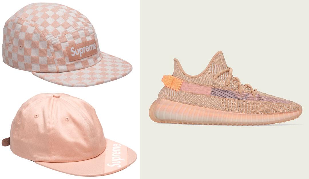 yeezy-350-clay-supreme-hats