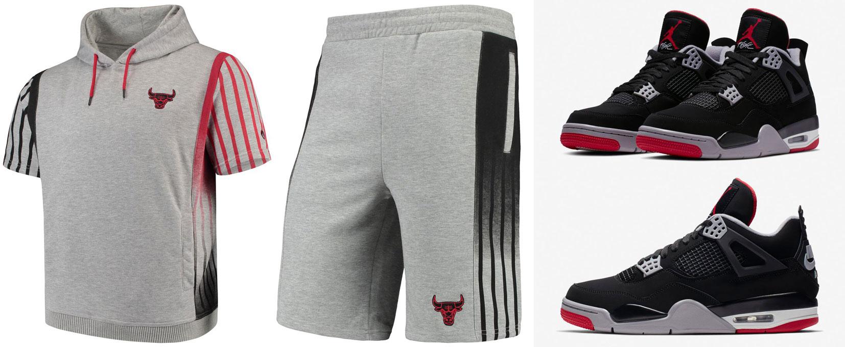 air-jordan-4-bred-2019-bulls-hoodie-shorts-match