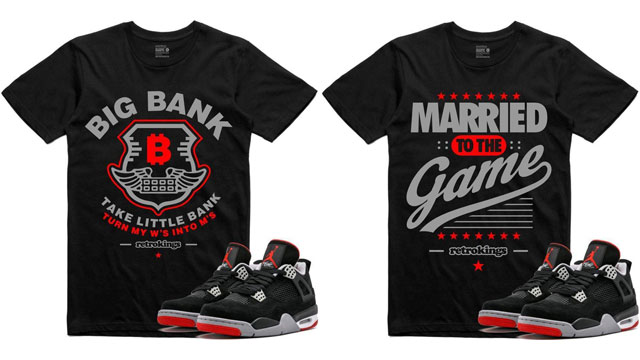 "6497cf952d01 Retro Kings Sneaker Tees to Match the Air Jordan 4 ""Bred"""
