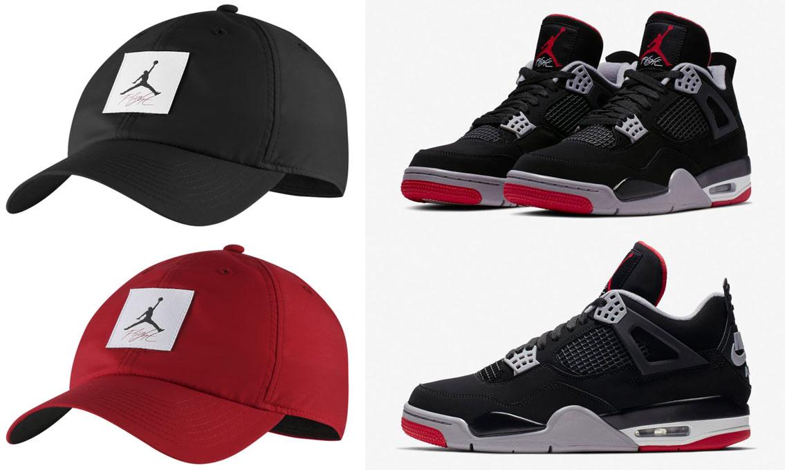 5467f8a5f5f Air Jordan 4 Bred 2019 Nike Air Hat | SneakerFits.com