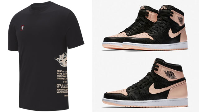 "810bd50204daa6 Jordan Jumpman Classic T-Shirt ""Black Crimson Tint"" to Match the Air Jordan  1 ""Crimson Tint"""