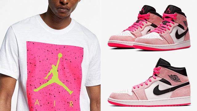 "ffb79dc3f33f8f Air Jordan 1 Mid ""Crimson Tint Hyper Pink"" x Jordan Tees and Caps to Match"