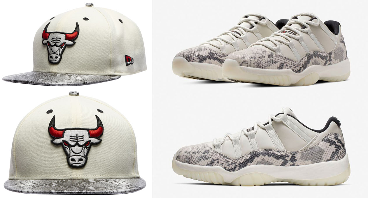 jordan-11-grey-snakeskin-light-bone-bulls-hat