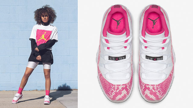 jordan-11-low-pink-snakeskin-outfit-match