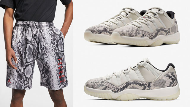 "c78bebd417af Air Jordan 11 Low Snakeskin ""Light Bone"" x Jordan Legacy AJ 11 Snakeskin  Shorts"