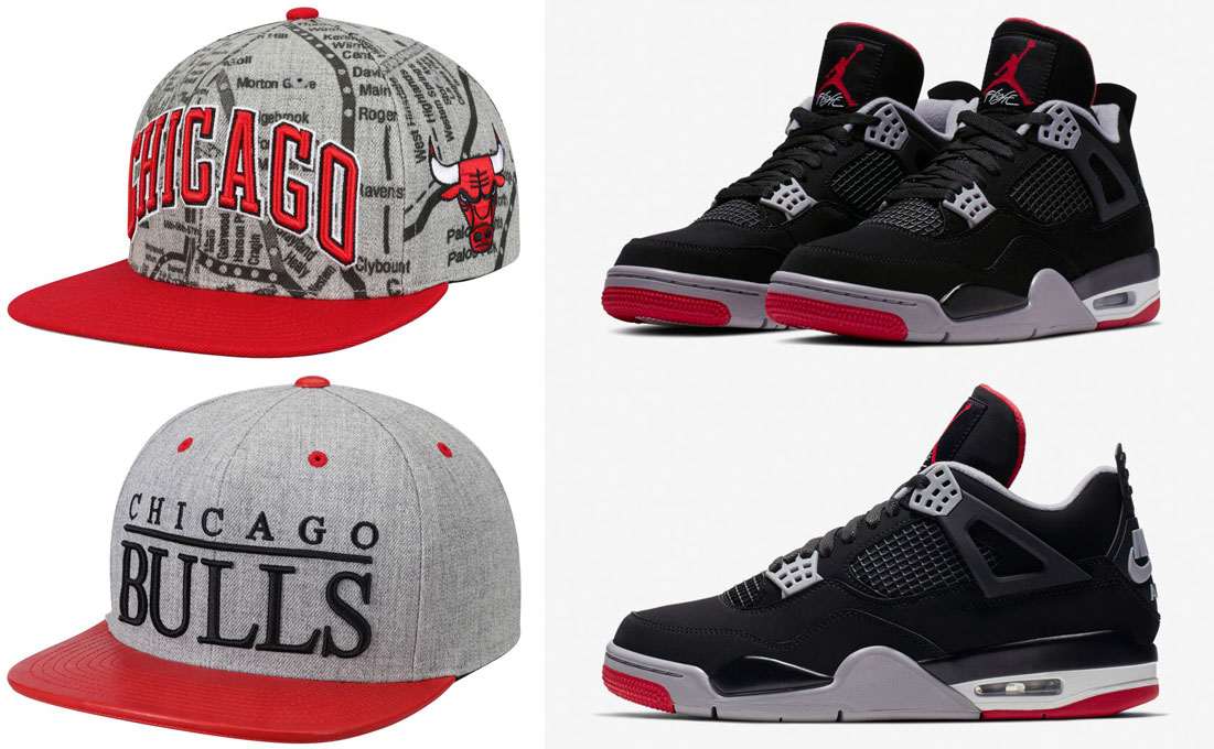 jordan-4-bred-2019-bulls-hats-to-match
