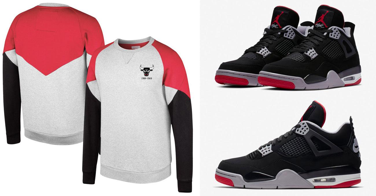 d21e7b22886235 Air Jordan 4 Bred Bulls Sweatshirt Match