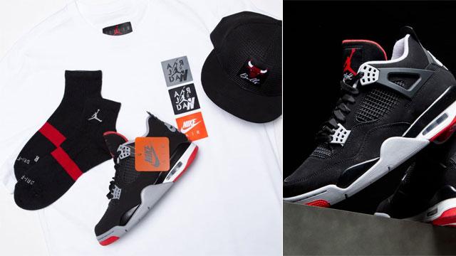 jordan-4-bred-hat-shirt-socks-outfit
