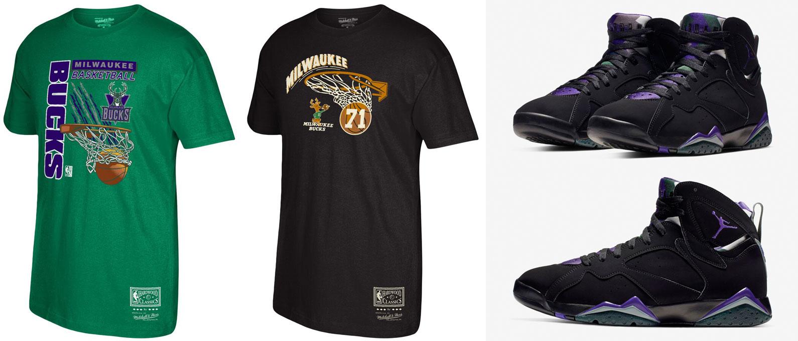 jordan-7-ray-allen-bucks-sneaker-match-tees-shirts