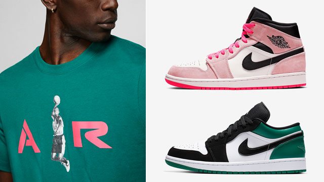 jordan-green-pink-sneaker-clothing-match