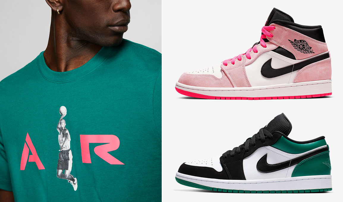jordan-mystic-green-pink-watermleon-clothing-shoes-match