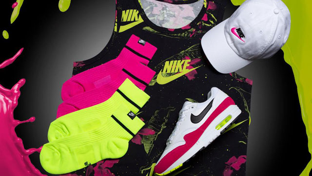 "8d459f8d8fdfa7 Step Into Summer in the Nike ""Pink Limeaid"" Pack Including Sneakers"