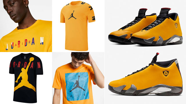 air-jordan-14-ferrari-yellow-sneaker-tees