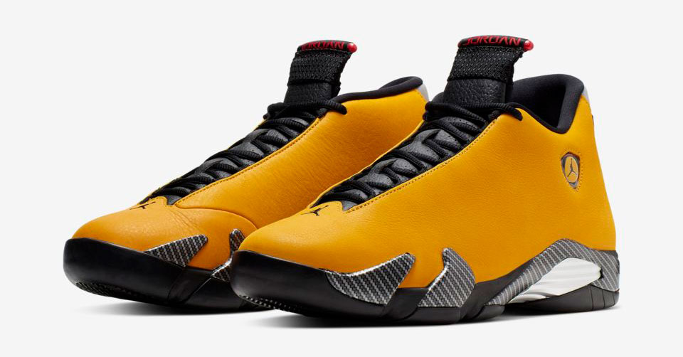 air-jordan-14-yellow-ferrari-clothing-match