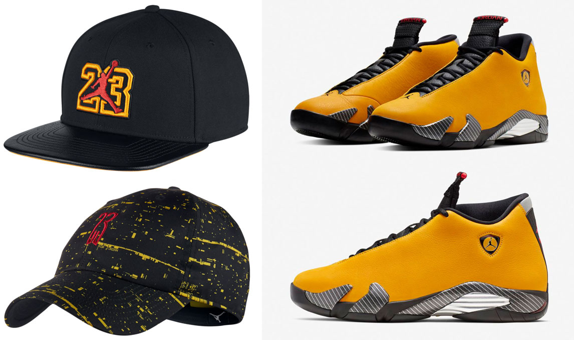 air-jordan-14-yellow-ferrari-hats